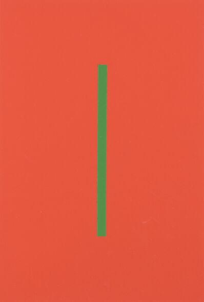 Vera Molnar, 'Icone Orange Et Vert', 1964