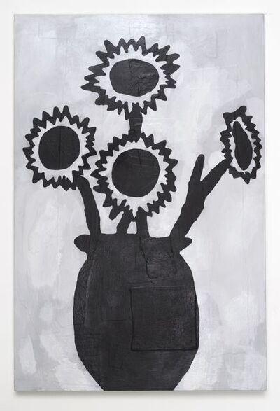 Donald Baechler, 'BLACK FLOWERS', 2013