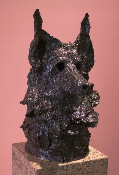 Allison Schulnik, 'German Shepherd Head', 2013