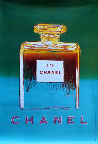 Andy Warhol, 'Chanel No. 5 (Blue) Advertising Poster', 1997