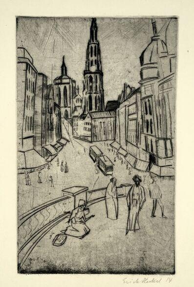 Erich Heckel, 'Antwerp', 1914
