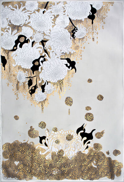 "Crystal Liu, 'the flowers , ""it pours""', 2015"