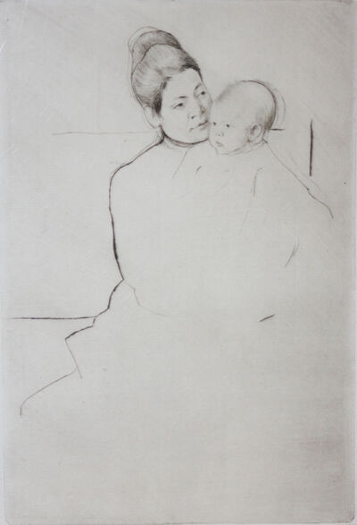 Mary Cassatt, 'Gardner Held by His Mother', 1889