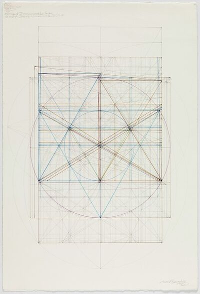 Mark Reynolds, 'Marriage of Incommensurables Series: Root Three and Phi, Incircle and Circumcircle, III, 1.4.15', 2015