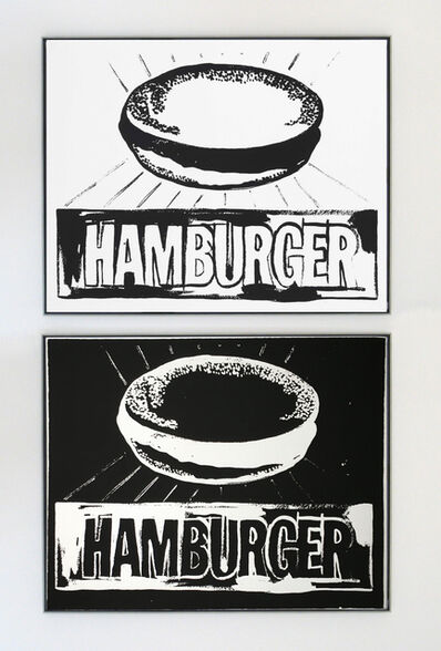 Andy Warhol, 'Hamburger Positive and Negative Diptych', 1985-1986