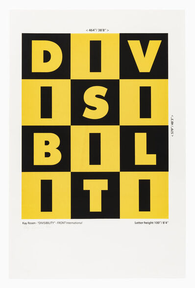 FRONT Canvas City Portfolio, '      KAY ROSEN (American, born 1943)       DIVISIBILITY, 1987/2018', 1987