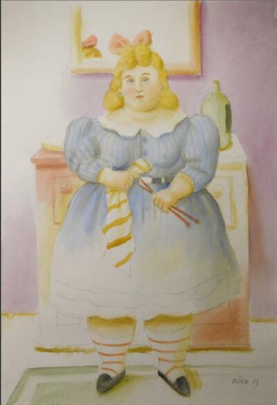 Fernando Botero, 'La tejdora', 2009