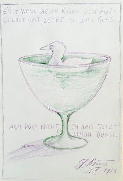 Günter Brus, 'Vogel im Glas', 1983