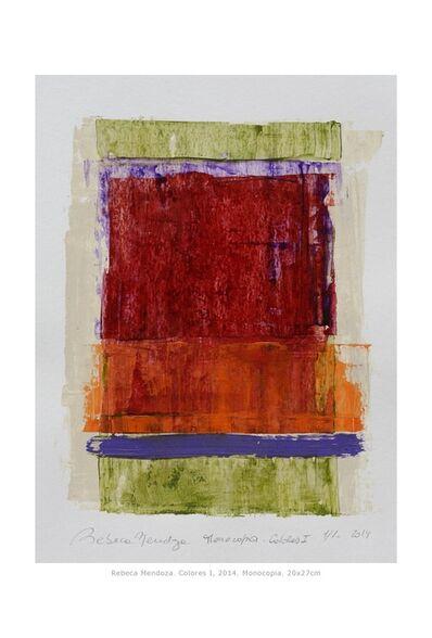 Rebeca Mendoza, 'Monocopia, Colores I', 2014