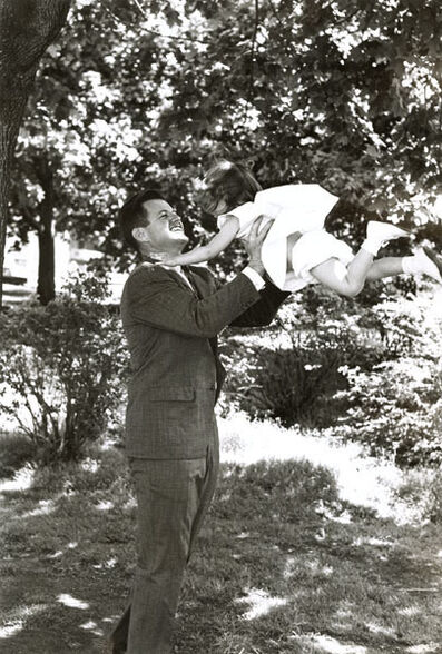 Vytas Valaitis, 'Ted Kennedy  Playing with His Daughter Kara', 1960s/1960s