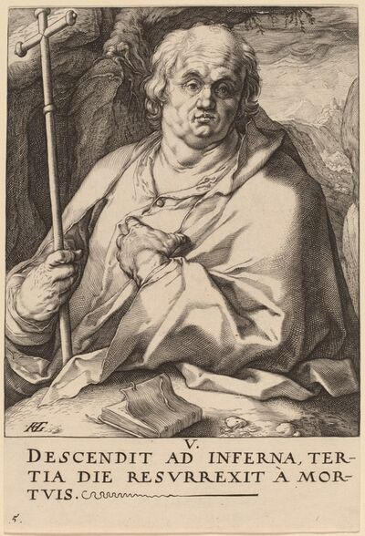 Hendrik Goltzius, 'Saint Philip', probably 1589
