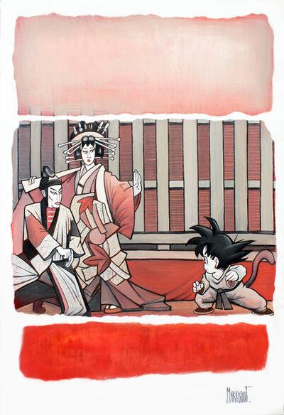 Xavier Marabout, 'Gris chaud et rouge tatami ', 2018