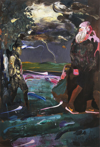 Adrian Ghenie, 'Darwin and the Satyr', 2014