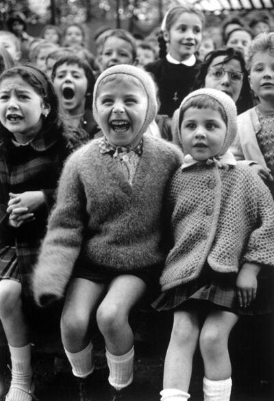 Alfred Eisenstaedt, 'Children at a Puppet Theatre III, Paris', 1963