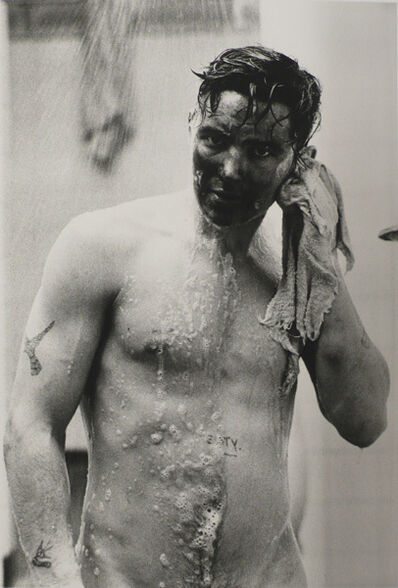 Colin Jones, 'Coal miner showering after a shift, Seven Sisters, Dalais Valley, South Wales', 1987
