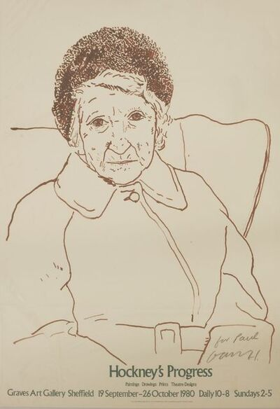 David Hockney, 'Hockneys Progress (The Artist's Mother)', 1997