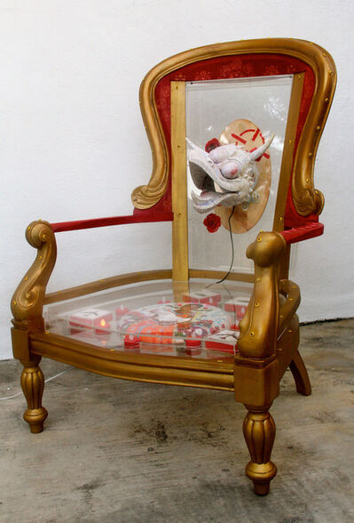 Anurendra Jegadeva, 'Yesterday in a Padded Room... (painted throne)', 2015