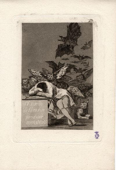Francisco de Goya, 'El sueño de la razon produce monstruos. (The sleep of reason produces monsters.)', 1796-1797