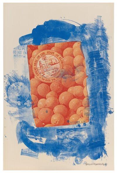 Robert Rauschenberg, 'Banner (Stoned Moon)', 1969