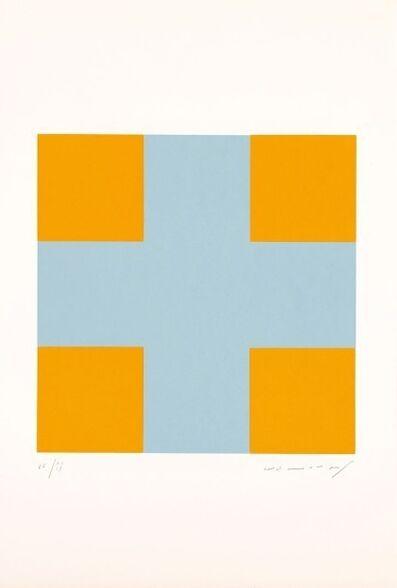 Aurelie Nemours, 'Une croix pour quatre carrés', 1991