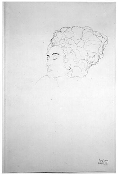 Gustav Klimt, 'Lady in Three Quarter Profile [Fünfundzwanzig Handzeichnungen]', 1919