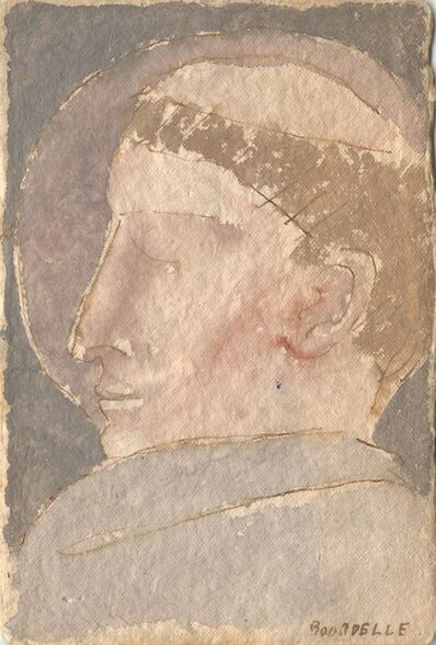 Emile-Antoine Bourdelle, 'Haloed man', No date.