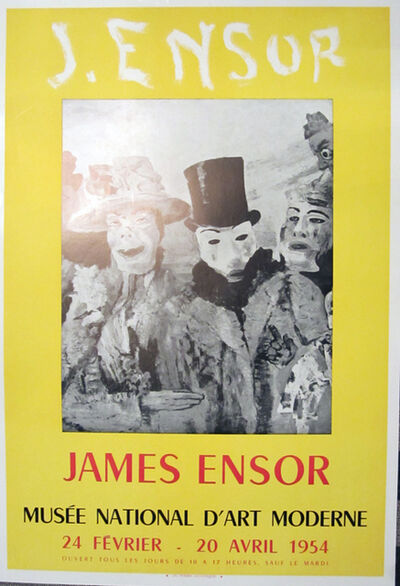 James Ensor, 'J. Ensor, Musee National D'art Moderne', 1954