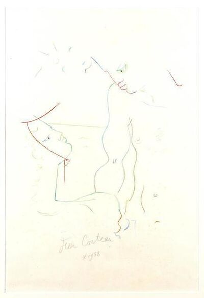 "Jean Cocteau, 'Original Lithograph ""Under the Sun of Menton"" by Jean Cocteau', 1958"