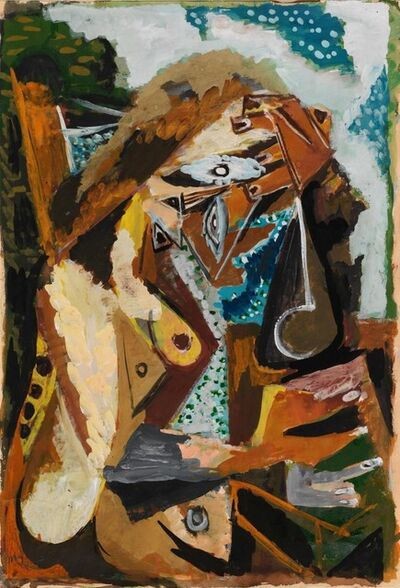 Ernst Wilhelm Nay, 'Reading Woman (Sitter at the Table) / Lesende (Sitzende am Tisch)', 1946