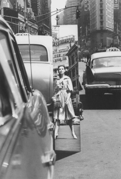 William Klein, 'Times Square + Mirror, NY', 1962-printed later