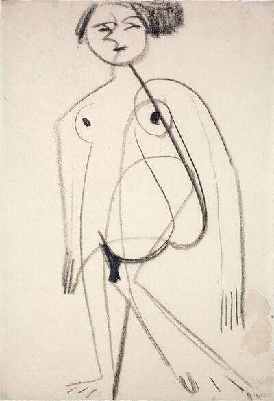 Ernst Ludwig Kirchner, 'Stehender Akt (Standing Female Nude)', 1930