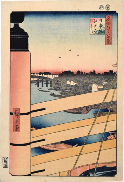 Utagawa Hiroshige (Andō Hiroshige), 'One Hundred Famous Views of Edo: Nihonbashi and Edobashi Bridges', 1857