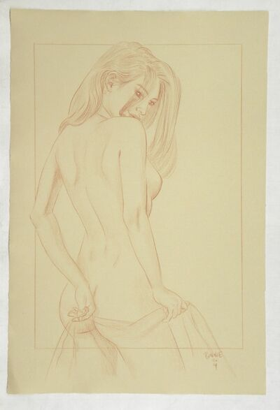 Paul Binnie, 'Alluring Figure preparatory drawing with border', ca. 2014