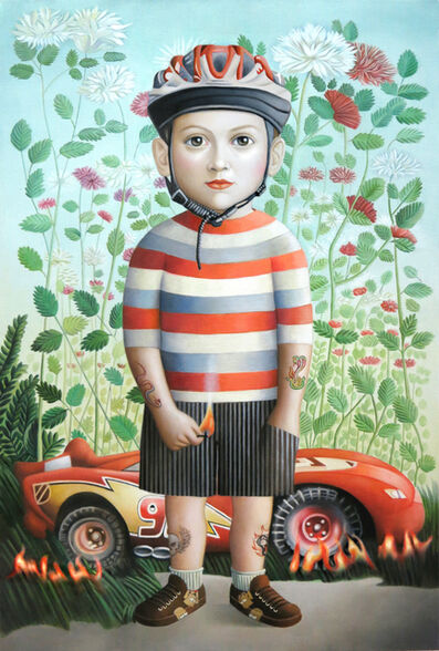 Amy Hill, 'Boy with Car', 2016