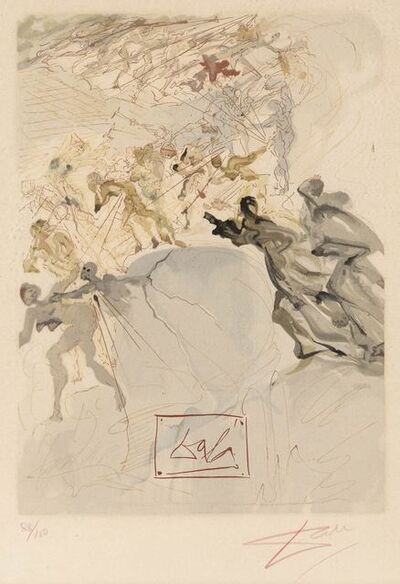 Salvador Dalí, 'Purgatory Canto 25 (See Field P. 192)', 1963