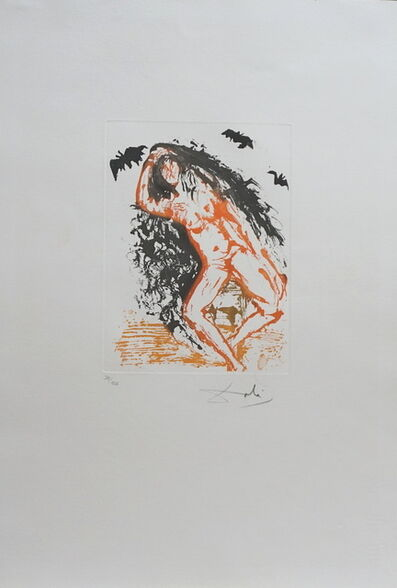 Salvador Dalí, '8 Mortl Sins Sloth', 1966