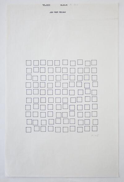 Vera Molnar, 'Tout Petit Des Ordres (15.00.31)', 1975