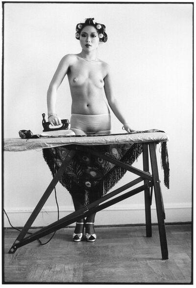 Arlene Gottfried, 'Eddie Sun's Friend Ironing, NY', 1972