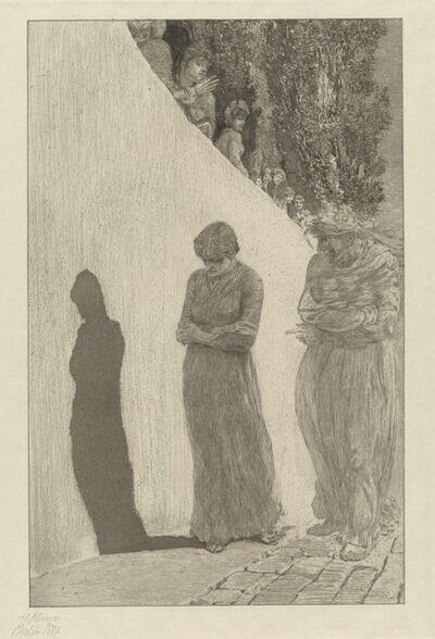 Max Klinger, 'Disgrace (Schande): pl. 9', 1878