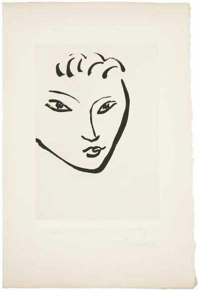 Henri Matisse, 'Tête de jeune garçon. Masque', 1946