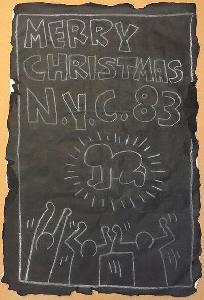 """Keith Haring, 'Subway Drawing """"Merry Xmas 1983""""', 1983"""