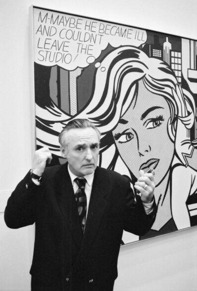 Benjamin Katz, 'Denis Hopper devant une peinture de Roy Lichtenstein « M-maybe » (1965), Musée Ludwig, Cologne', 28.03.1992