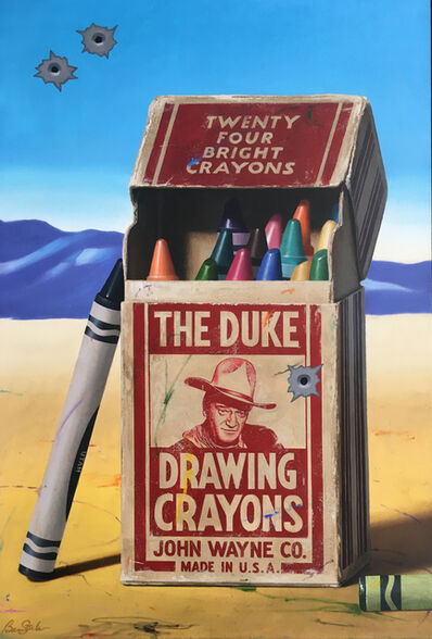 Ben Steele, 'The Duke Drawing Crayons', 2016