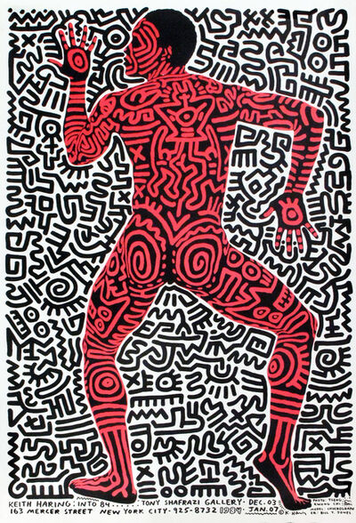 Keith Haring, 'Tony Shafrazi 1984 Exhibition Announcement', 1984