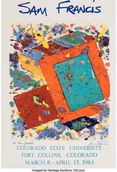 After Sam Francis, 'Sam Francis, exhibition poster', 1982