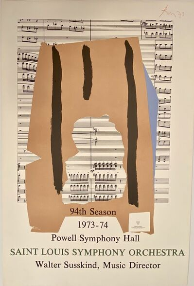 Robert Motherwell, 'Powell Symphony Hall, Saint Louis Symphony Orchestra, 94th Season, 1973-74 Print', 1973