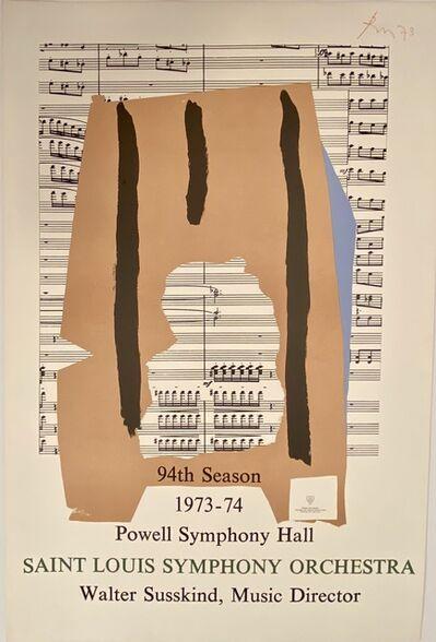 Robert Motherwell, 'Powell Symphony Hall, Saint Louis Symphony Orchestra, 94th Season, 1973-74 Print', 1973