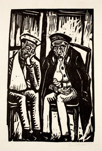 Erich Heckel, 'Zwei Verwundete', 1914