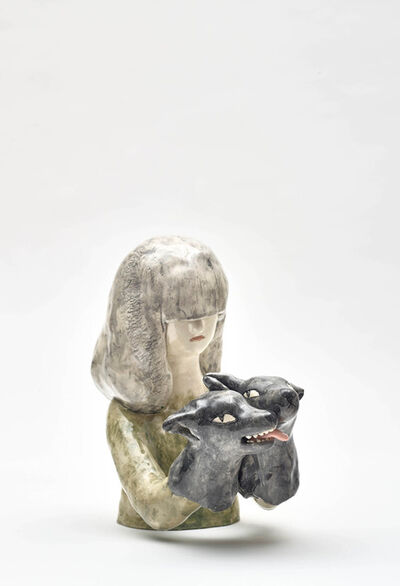 Clémentine de Chabaneix, 'Girl with wolves', 2020