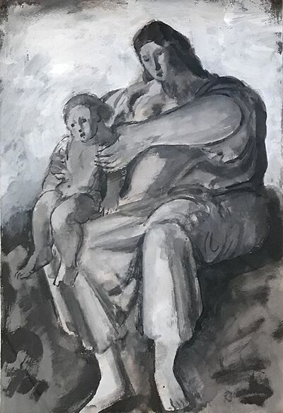 BERNARD MENINSKY, 'Mother & child', 1891-1950